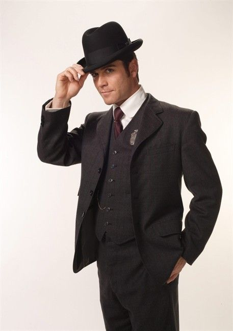 Detective William Murdoch (Yannick Bisson), of Murdoch Mysteries, always in a three piece suit.   LOVE, LOVE his character and so cute!  :)