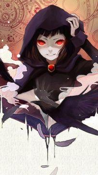 Os jovens Titãs Raven Ravena