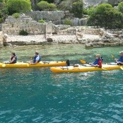 Sea Kayaking at the sunken city of Kekova | Holidays in Kalkan Kas Fethiye Turkey