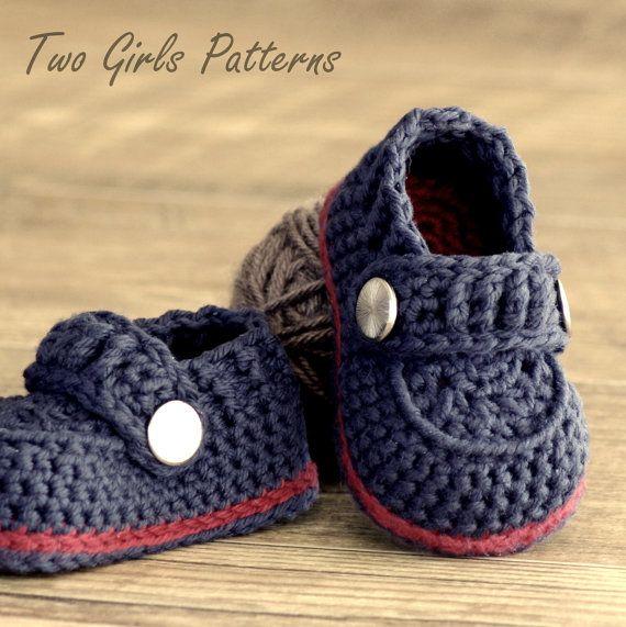 Crochet patterns Baby Boy Boot The Sailor von TwoGirlsPatterns