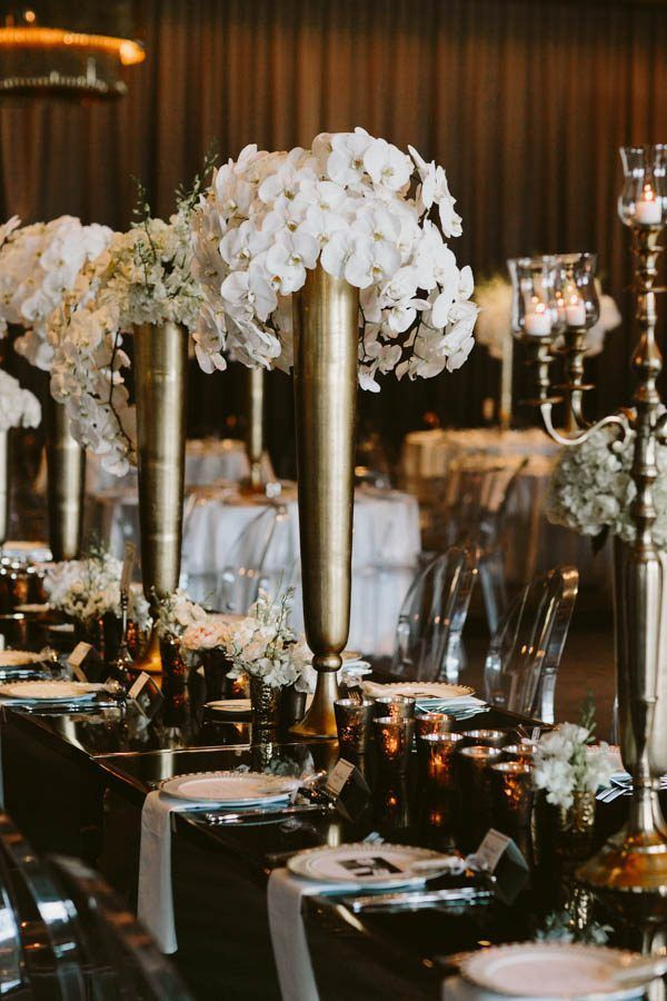gatsby inspired wedding design by the whitt experience photo by brandon scott photography - Wedding Design Ideas
