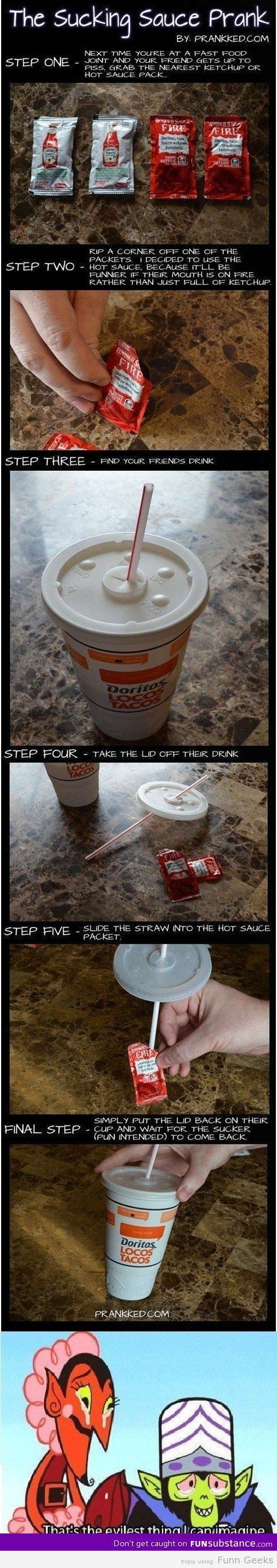 Sauce prank #funnyimages #funny #gag #lol #funnypictures