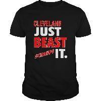 Cleveland Baseball Basketball Just Beast It Champs Sports Fan Shirt
