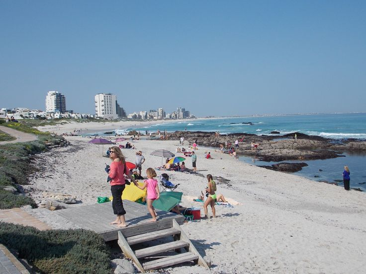 A warm Winters day on Bloubergstrand Beach Cape Town
