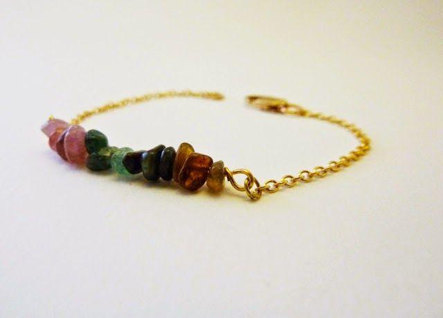 handmade with love _ tourmaline bracelet