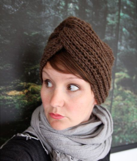 Free Knitted Head Wrap Pattern : Free knitting pattern for Winter Turban style hat - Anna & Heidi Pickles ...