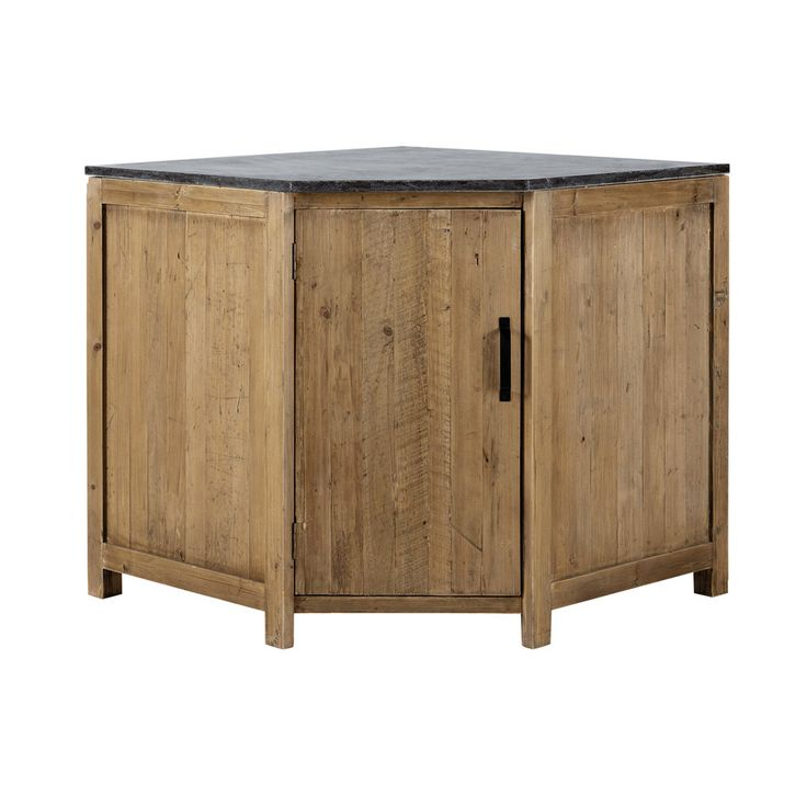 Recycled Wood Kitchen Corner Base Unit W 97cm