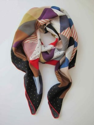 Benah silk scarf COLORS; PATTERNS; SOLIDS; CONTRAST TRIM