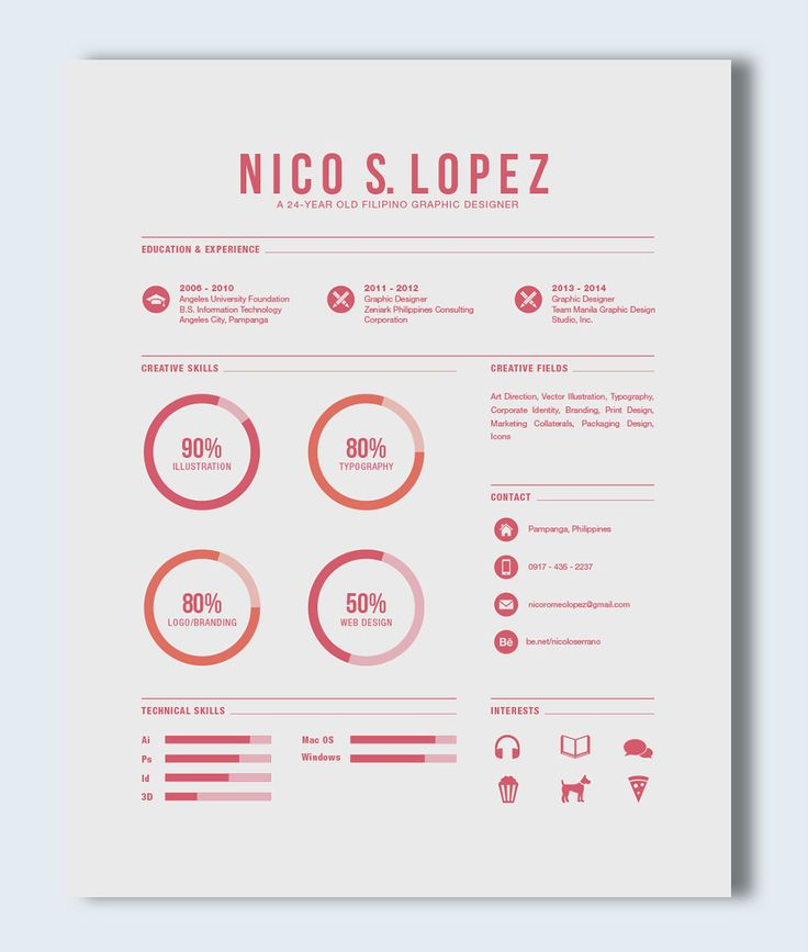 The 17 best Creative Resumes images on Pinterest | Resume design ...