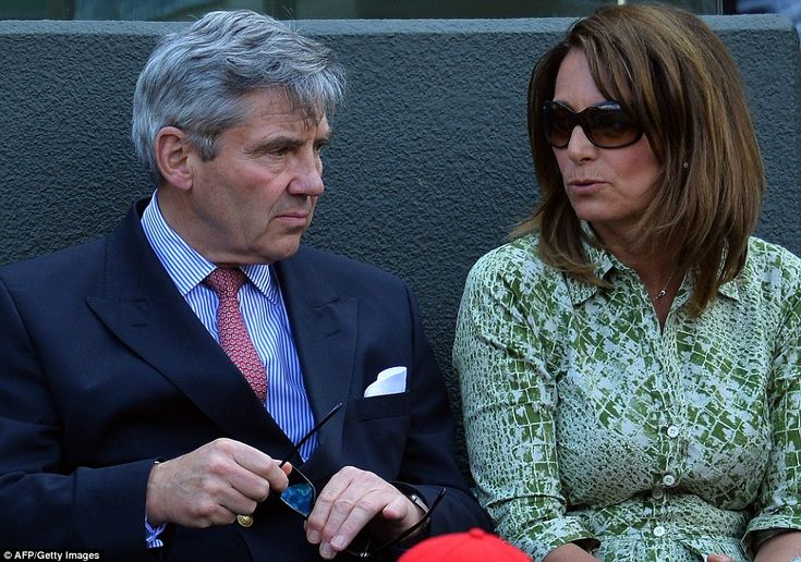 The Duchess of Cambridge's parents Michael and Carole Middleton were among those in the cr...