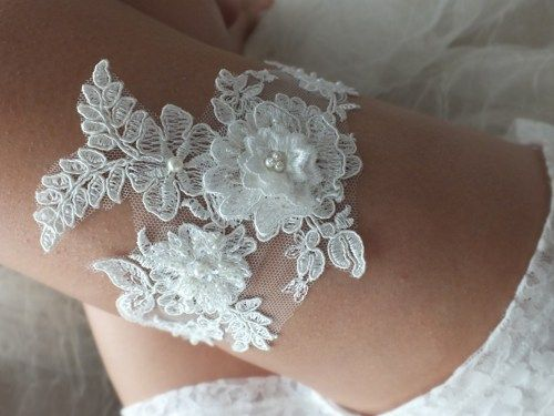 Wedding Garter Romantic Lace Features Soft With Beautiful Elegant And Embroidered Pearl O Ships Within
