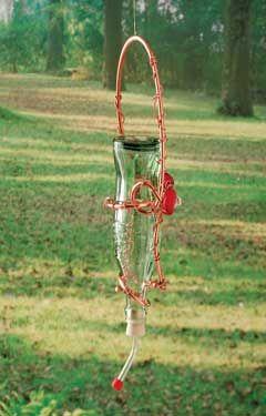 diy hummingbird feeder forget pricey decorative sugarwater feeders make this recycled diy - Homemade Hummingbird Food
