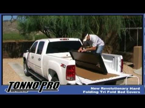 How to Install a Tonno Pro Hard Fold Tonneau Cover - This truck bed cover arrives completely assembled and doesn't require any tools to get it on your truck. Should take 10-15 minutes. Order yours today at http://www.realtruck.com/tonnopro-hard-fold-tonneau-cover/ starting at $529.
