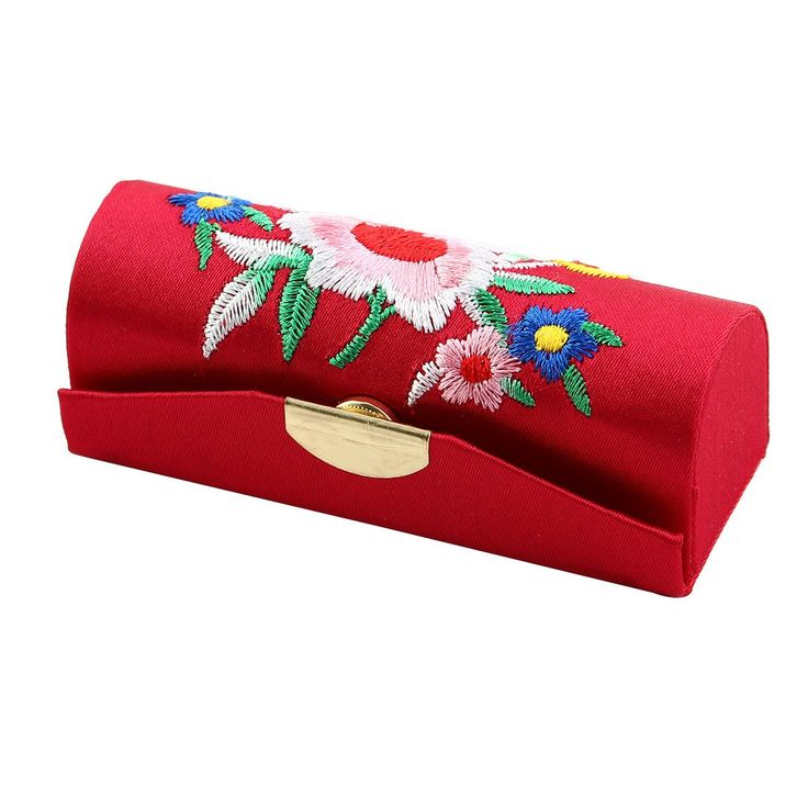 uxcell Embroider Flower Press Stud Closure Flap Lipstick Case Holder Box Red w Mirror. Perfect match and best choice of this Red Violet Lipstick Case for carrying on your lipstick!. Classic Tradition Chinese Embroider Lipstick Case with exquisite flowers patterns. Weight: 25.9g.