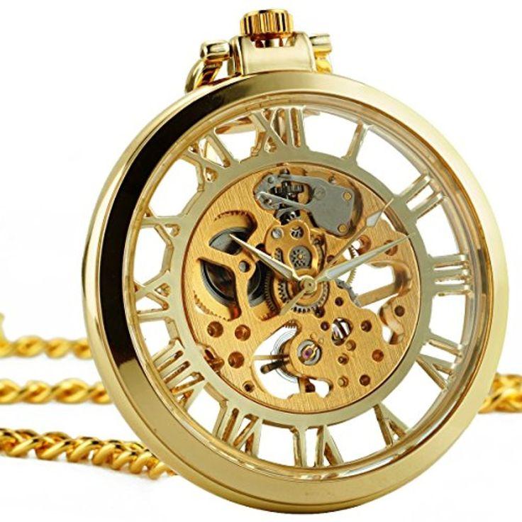 ManChDa® Doré Squelette Open Face Roman Numerals Antique Creux Mécanique Montre de poche avec Chaîne 2017 #2017, #Montresdepocheetgoussets http://montre-luxe-homme.fr/manchda-dore-squelette-open-face-roman-numerals-antique-creux-mecanique-montre-de-poche-avec-chaine-2017/
