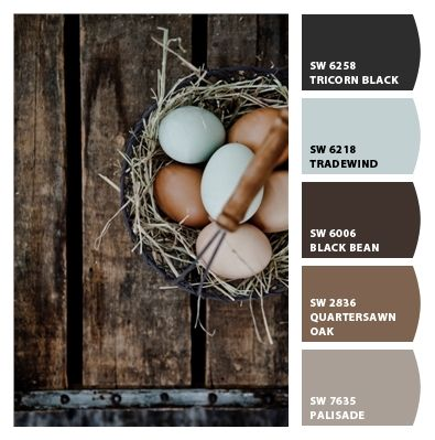 rustic farm colors  I'm saying basic black, Baja breeze,early expresso,soft suede & basic gray