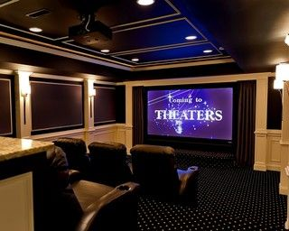 Great Falls Theater - traditional - media room - dc metro - by Encore Custom Audio Video