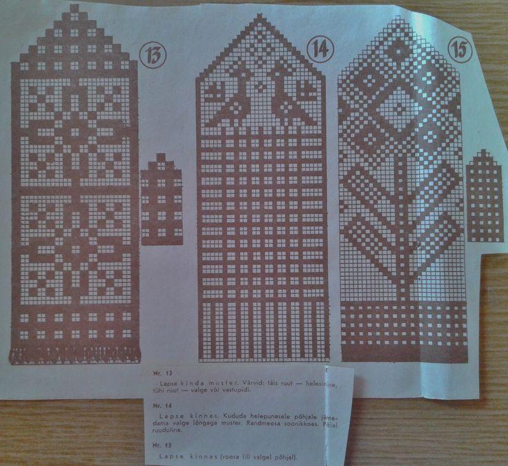 mitts pattern for kids FREE mitt 13: light blue and white mitt 14: light red and white mitt 15: pink and white