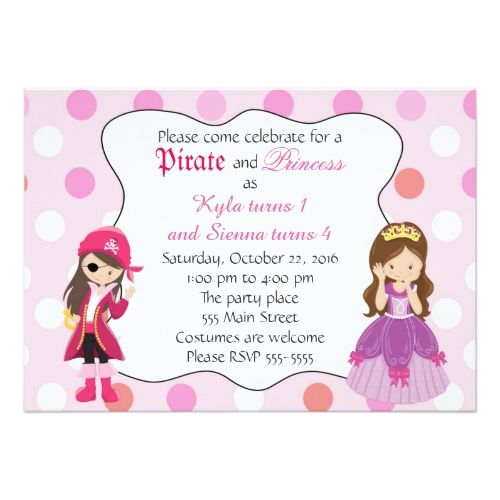 120 best Twins Birthday Party Invitations images – Girls Birthday Party Invitation