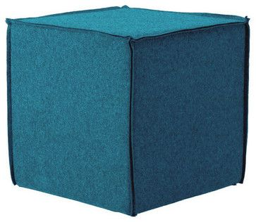 Blu Dot Otto Ottoman, Aqua - Contemporary - Ottomans And Cubes - Blu Dot