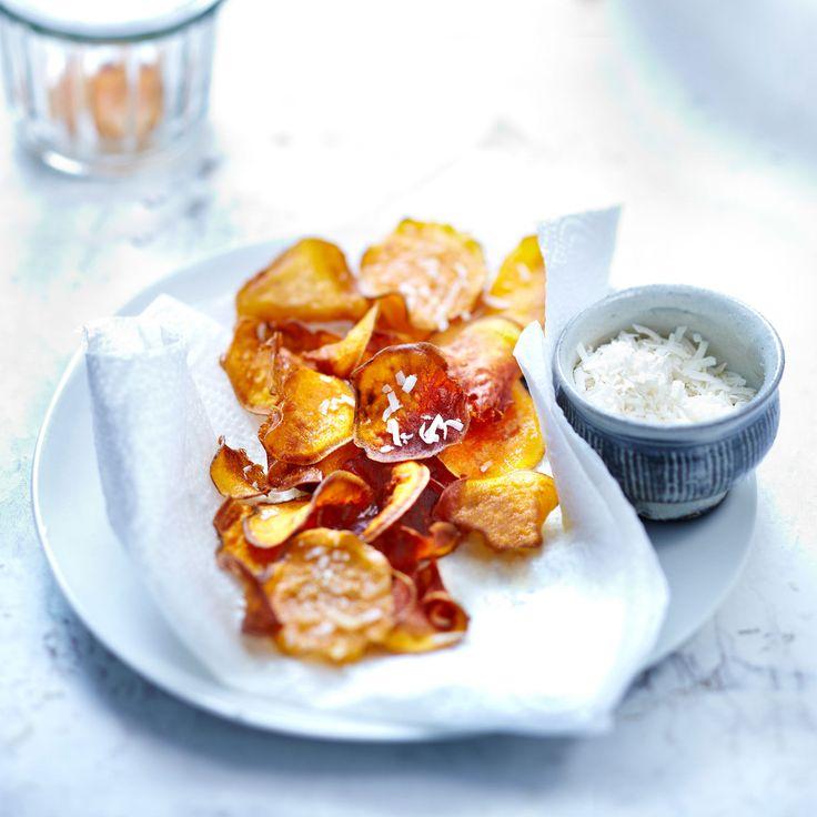 Découvrez la recette Chips de patate douce sur cuisineactuelle.fr.