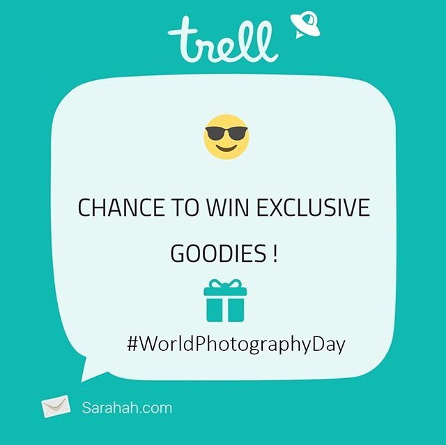 Happy world photography day! Contest Alert It's Trell's first Contest and what can be a better day than today?  Let's all show out our hidden talents🎬 All you need to do is :- 1) Logon to :- www.trellapp.com 2) Create your account  3) Upload your pictures to create a beautiful trail 4) Share it on Instagram through the app and Tag us on it Prizes :- 2 winners will be selected on basis of likes/views from the community on our handle  Top 5 entries will be shortlisted on the community page by…