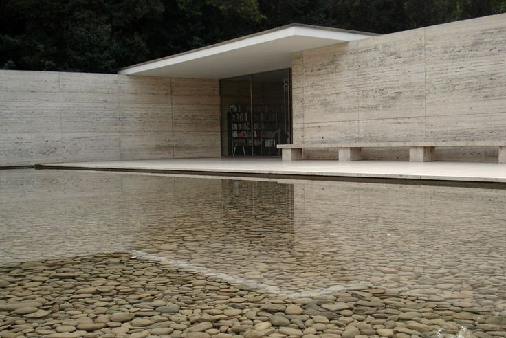 Mies: Architects, Vans Of, Water Features, Der Rohe, Architecture Modern, Barcelona Pavilion, Landscapes Architecture, Mies Vans, Architecture Design