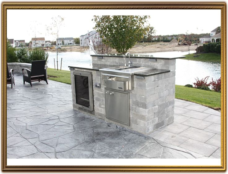 1000 images about outdoor kitchen on pinterest diy for Block outdoor kitchen