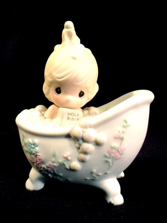 Precious Moments Figurine  He Cleansed My by FinishingTouchResale, $20.00