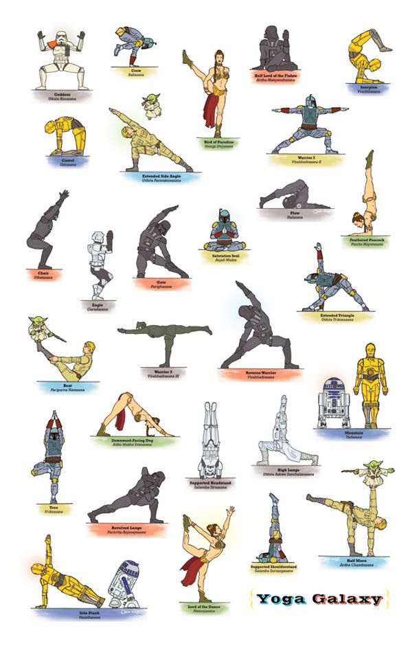Star Wars Yoga The Illustrated Edition Yoga Poses