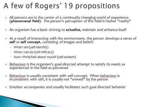 carl rogers person centred theory psychology essay Essays and criticism on carl rogers - criticism  psychology today 1  i think that a moderator between defenders of the gestalt therapy and and the person centered approach could develop some .