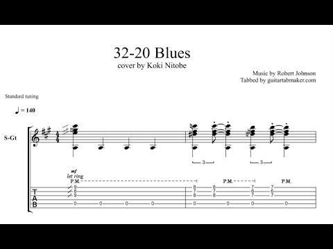 32 20 Blues acoustic guitar tab - acoustic fingerpicking guitar songs - pdf acoustic guitar sheet music - guitar pro tab download