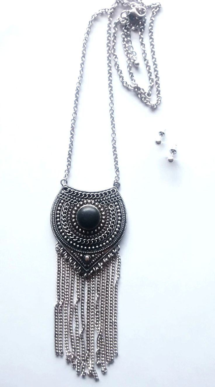 Nile Delta Necklace + Earring Set- Antique Silver