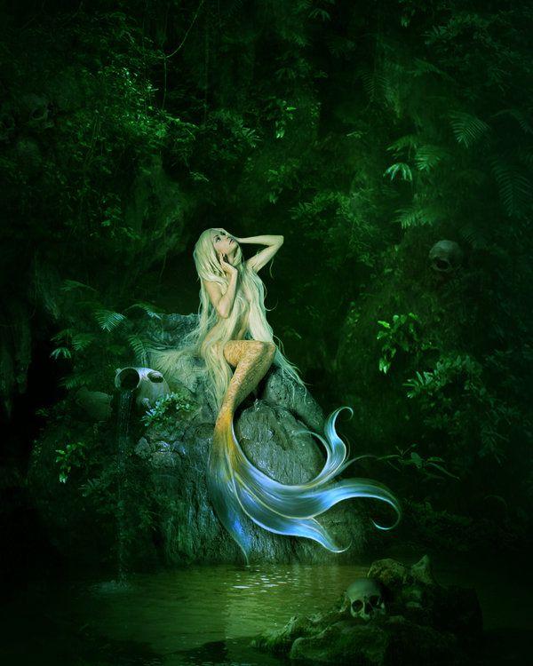 mermaid art gallery | Mermaid's cave by ElenaDudina on deviantART