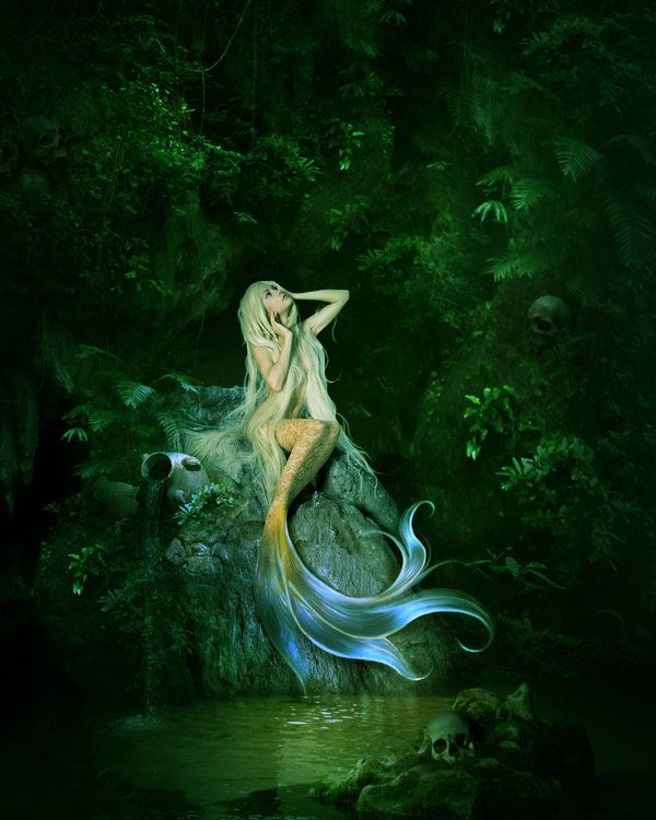 mermaid art gallery | Mermaid's cave by ElenaDudina on deviantART