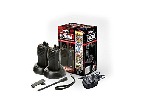 Mitex General Professional Two-Way Radios - Twin Pack The Mitex Licenced Two Way Radio Powerful 5 watt for increased range andamp