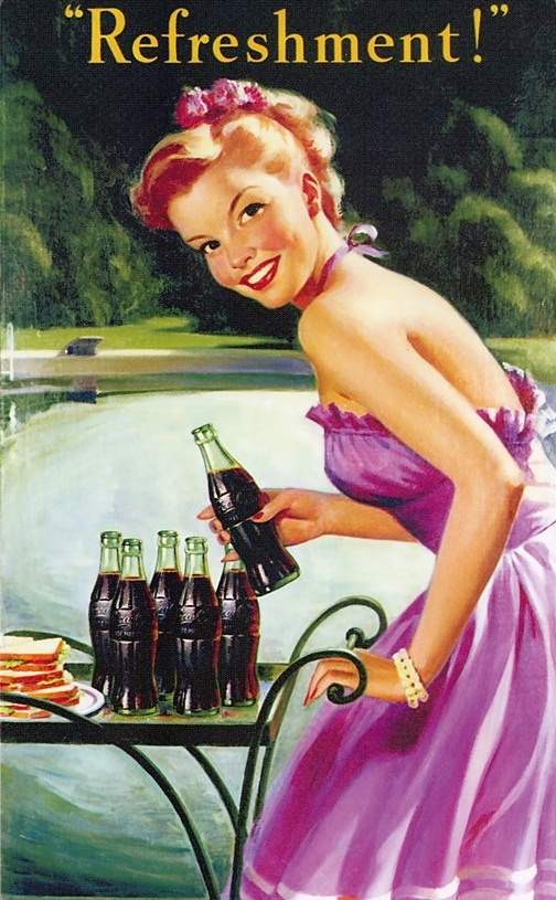 Coca Cola ads of Stunning Working class ladies from the 1889 till present days