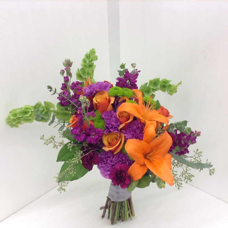 orange purple fuchsia and green bridal bouquet by nancy at belton hyvee multi colored. Black Bedroom Furniture Sets. Home Design Ideas