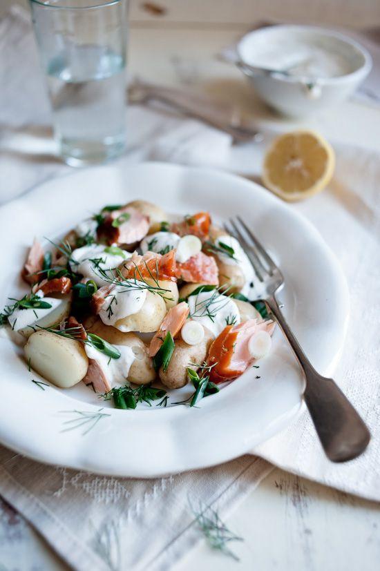 Faites cuire votre rêve: saumon fumé et salade de pommes de terre à l'aneth