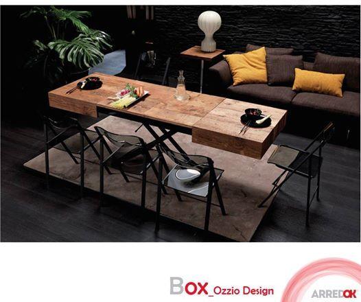 Il #Tavolinotrasformabile Box di #OZZIODESIGN è un prodotto #polifunzionale. Il suo design lineare racchiude una tecnologia affidabile che cambia la forma e insieme la destinazione d'uso.  http://arredok.com/tavolino-trasformabile-box-ozzio-design-4397.html — presso www.arredok.com.