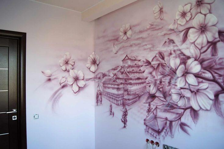 Фреска На Стену: 150+ (Фото) Как Выглядит В Интерьере ...