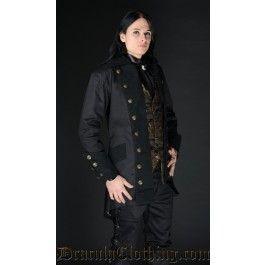 Veste Homme Gothique Steampunk Pirate Noir