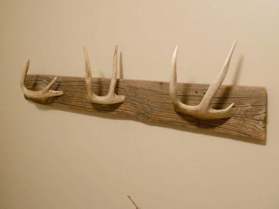 Whitetail Deer Coat Or Towel Rack By Backwooddesigns On Etsy