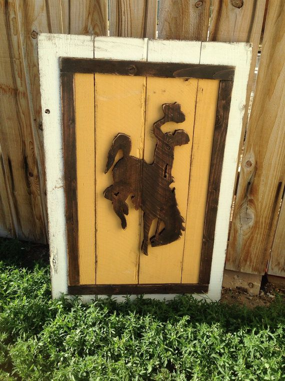 Wyoming Cowboys 3D style Wood Flag, University of Wyoming, State of Wyoming Pride, Home Decor Wyoming flag Go Pokes