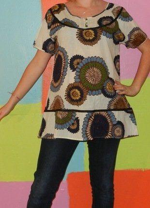 À vendre sur #vintedfrance ! http://www.vinted.fr/mode-femmes/blouses-and-chemises/32662174-haut-t-shirt-blouse-motif-fleur-tournesol-t42-aniss-printempsete-ethniquechichippie
