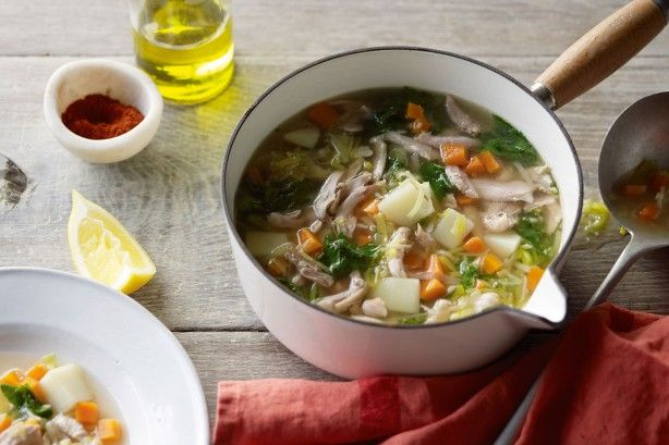 Beat the sniffles this winter with this hearty chicken and vegetable soup. Proudly brought to you by Campbell's Real Stock and taste.com.au.