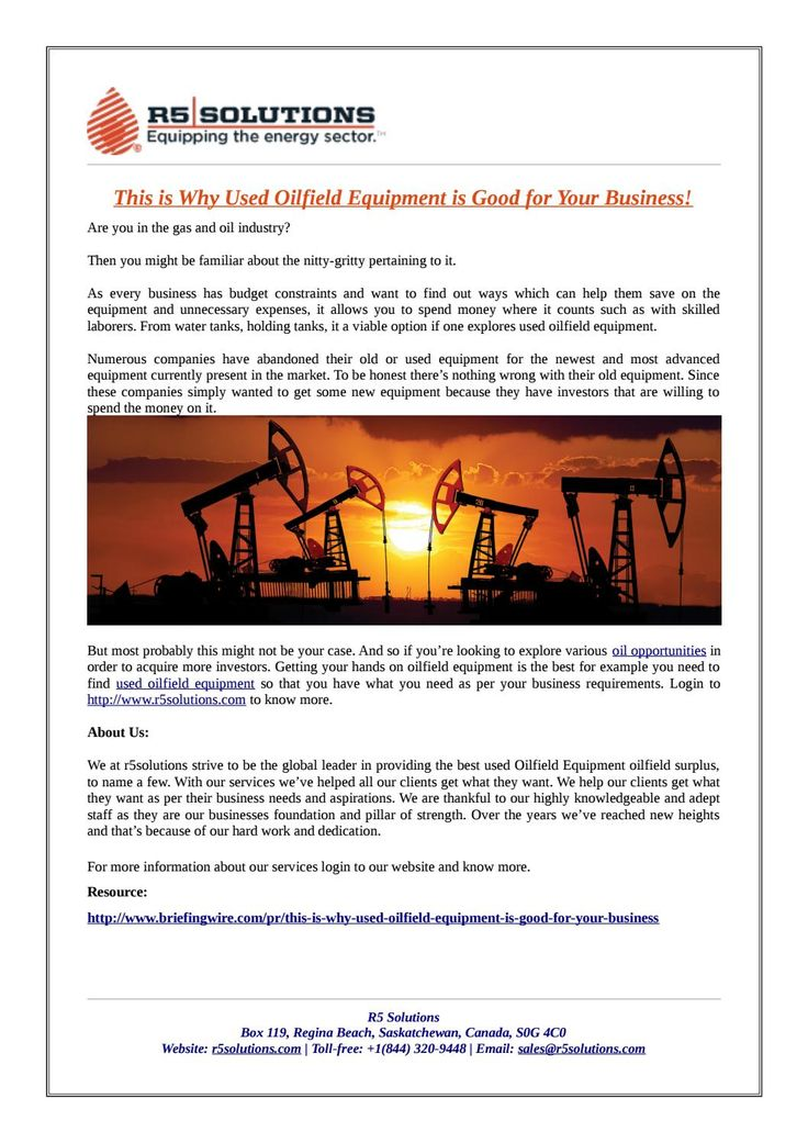 Understanding About Used Oilfield Equipment and Surplus! - equipment lease form