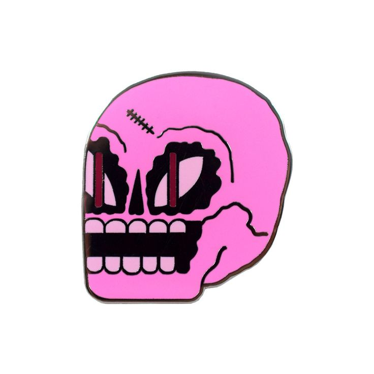 Pink Skull Pin by John F Matla from Valley Cruise Press