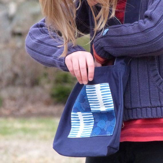 Toddler Tote Kids Nature Walk Bag Washable Messenger by LilaKids, $25.00