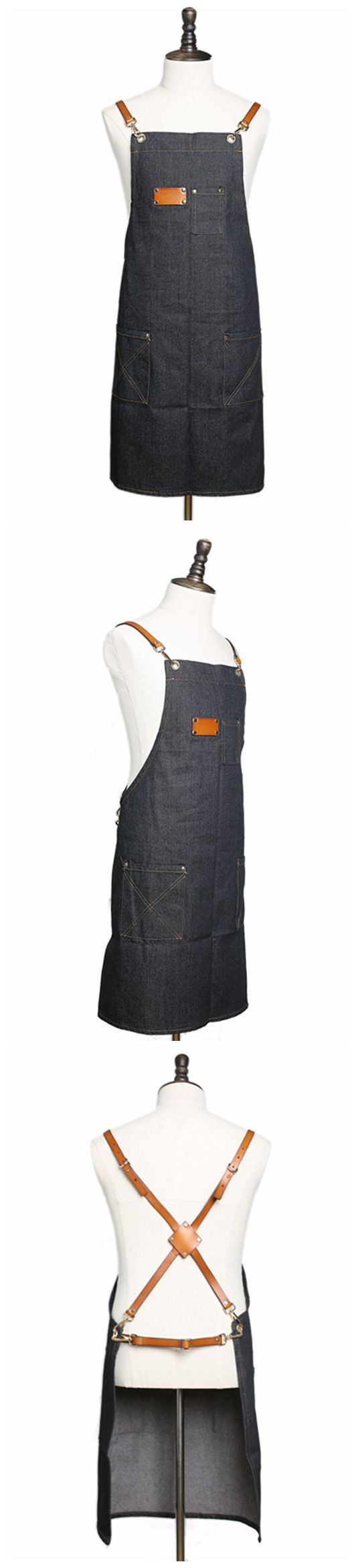 Waxed Canvas and Leather Apron, Crafter Apron, Barista's Apron, Barbers Apron, Custom Apron